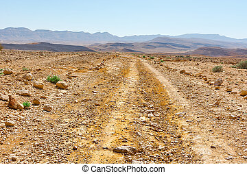 Dirt Road of the Negev Desert in Israel