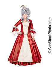 Woman wearing red dress - Beautiful woman wearing red dress...