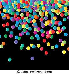 Paper Confetti Color Background.