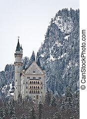 Neuschwanstein castle, Fussen - Neuschwanstein castle,...