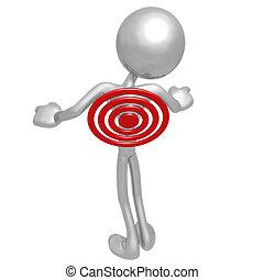 Target On Back - 3D Concept And Presentation Figure