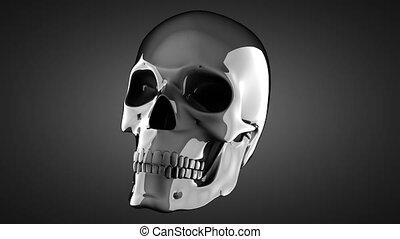 metal skull rotating