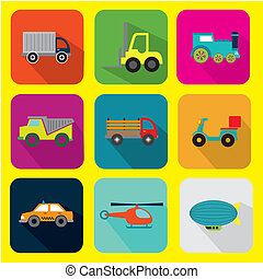 cargo transport design over background vector illustration