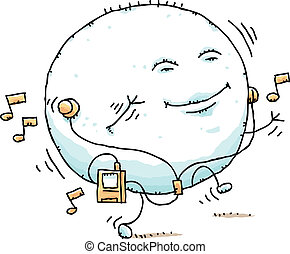 Puffy Blob Dancing - A puffy, cartoon blob dances while...