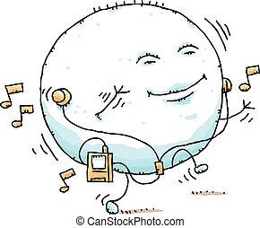 Puffy Blob Dancing - A puffy, cartoon blob dances while...