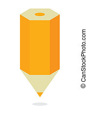 pencil symbol flat isolated over white background vector...