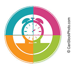 time watch logo over white background vector illustration