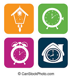 time design - time watches design over white background...