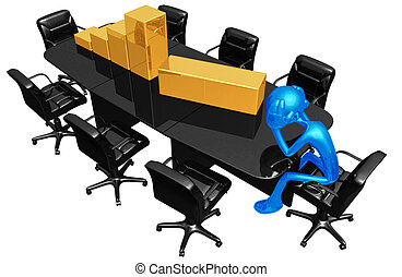 Business Loss - 3D Concept And Presentation Figure