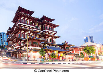 Singapore buddha tooth relic temple - Architecture of...