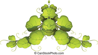A green leafy plant - Illustration of a green leafy plant on...