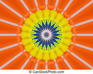 Citrus - bright citrus colored abstract