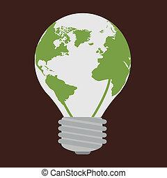 eco design over brown background vector illustration