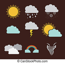 eco design over brown background vector illustration