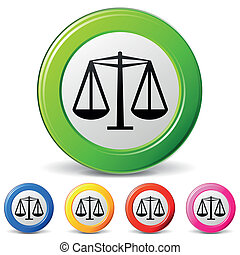 vector law icons - vector illustration of law icons on white...