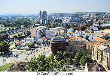 Aerial view on Brno, Czech Republic
