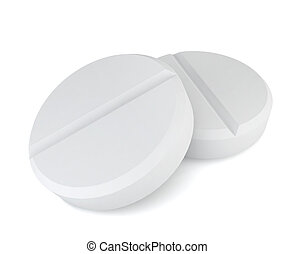 Two pills 3d illustration on white background