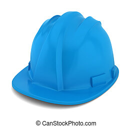 Safety helmet 3d illustration on white background