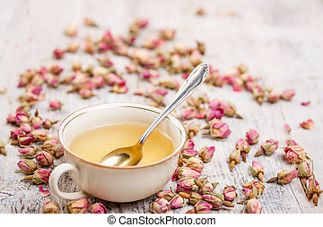 Cup of tea - Cup of rose bud tea