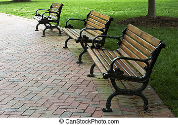 Park Benches at a local park