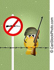 bird hunting - illustration of bird hunting