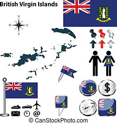 Map of British Virgin Islands - Vector of British Virgin...