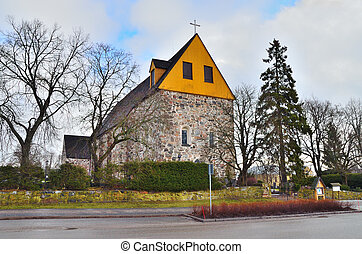 Finland Church of Sts Lawrence - Western Finland, Mynamaki...