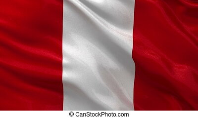 Flag of Peru seamless loop