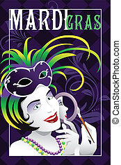 Mardi Gras poster - A vector illustration of mardi gras...
