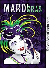 Mardi Gras poster - A vector illustration of mardi gras...