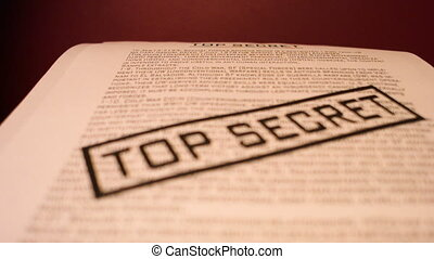Top secret confidential documents - Printing Top Secret...