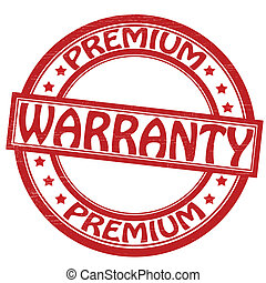 Warranty - Stamp with word warranty inside, vector...