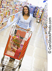 Young woman grocery shopping - Youing woman grocery shopping...