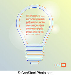 lamp with text