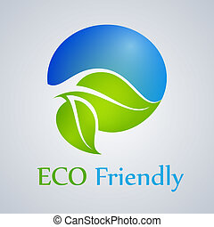 Eco friendly product, green, organic, icon, vector.