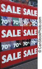 "Retail Store Sign - Retail store sign that says ""SALE UP TO..."