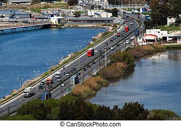 road - lake seaways drive cars