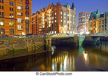 Historic warehouses in Hamburg