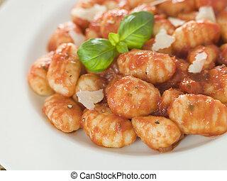 papa, Gnocchi, tomate, Ragu