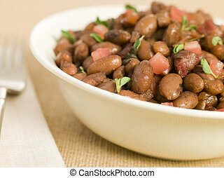 Borlotti Beans Braised in Red Wine