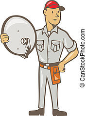 Stock Illustrations of Business card Cable TV Installer Guy ...