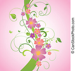 Spring floral border