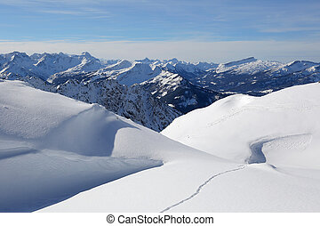 Winter landscape mountains covered with snow