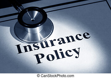 insurance policy - stethoscope and insurance policy, concept...