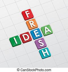 fresh idea crossword, flat design