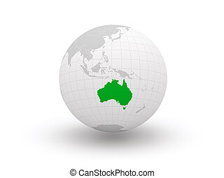 Globe. 3d. Australia. Elements of this image furnished by...