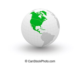 Globe 3d North America Elements of this image furnished by...