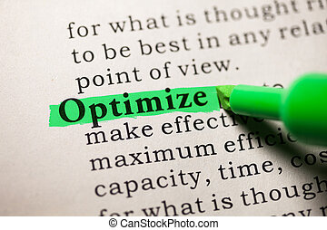 optimize - Fake Dictionary, Dictionary definition of the...
