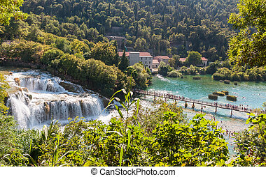 Krka National Park in Croatia - Waterfalls in Krka National...