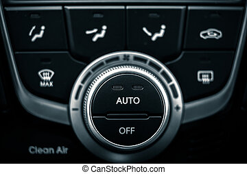 car the switches of modern air conditioner - a car the...